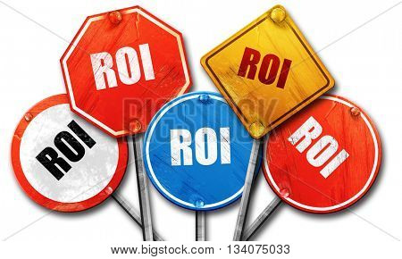 roi, 3D rendering, rough street sign collection