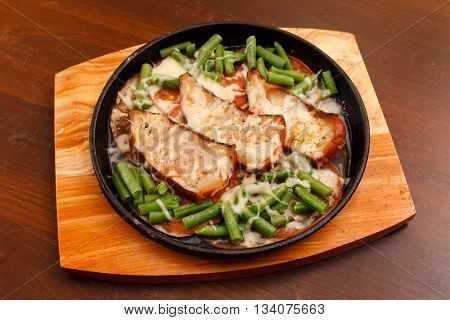 roasted fish with green beans