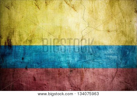 Colombian grungy flag