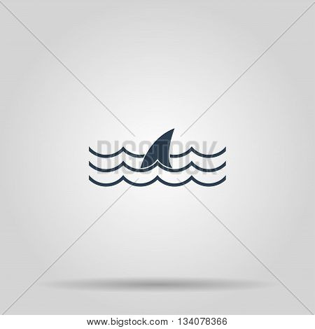 shark fin icon. shark fin. Concept illustration for design.