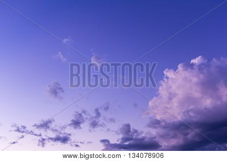 Beauty sky with clouds , nature object