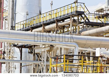 Photo of Industrial tubes on making petroleum plant