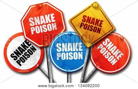 snake poison, 3D rendering, rough street sign collection