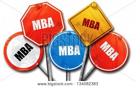 mba, 3D rendering, rough street sign collection