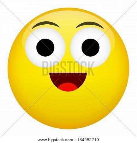 Smile laugh and fun emotion. Emoji illustration.