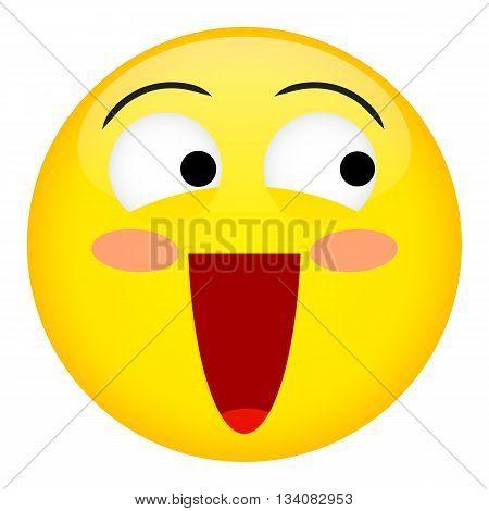 Confusion laugh and fun emotion. Emoji emoticon illustration.