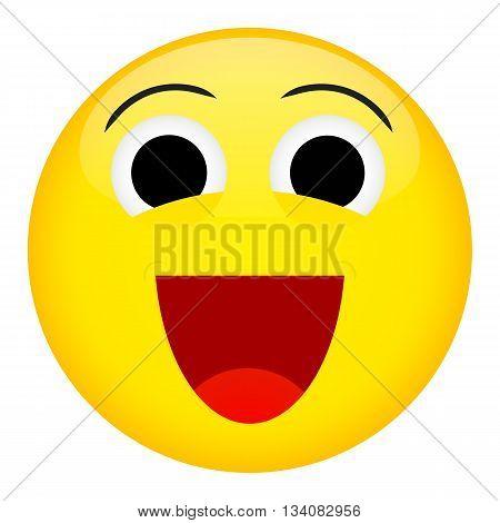 Laugh and fun emotion. Emoji emoticon illustration.
