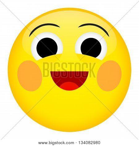 Kid laugh and fun emotion. Emoji emoticon  illustration.