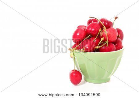 cherry fruit in bowl