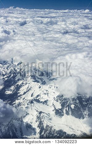 View From A Plane, Alps