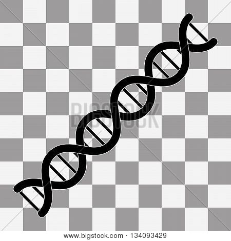 Vector The dna icon. DNA symbol. Flat Vector illustration on transparent background