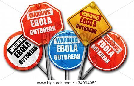 Ebola outbreak concept background, 3D rendering, rough street si
