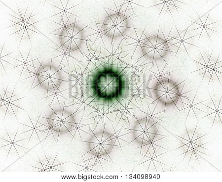 Geometry Of Space Series. Visually Attractive Backdrop Made Of Conceptual Grids Curves And Fractal E