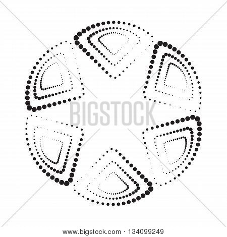 Abstract Geometric Pattern  Background. Black And White Texture.