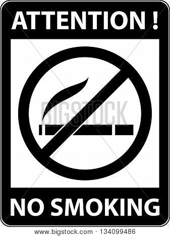 No smoking, cigarette, smoke and cigar prohibited symbol. Sign indicating the prohibition or rule. Warning and forbidden. Flat design. Vector illustration. Easy to use and edit. EPS10.