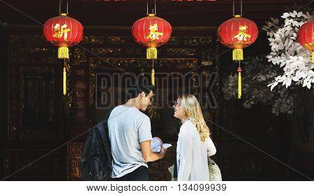 Couple Travel Tourism Destination Exploration Concept