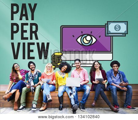Pay-Per-View Content Magnifier Observation Concept
