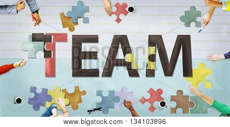 Team Teamwork Together Togetherness Unity Concept
