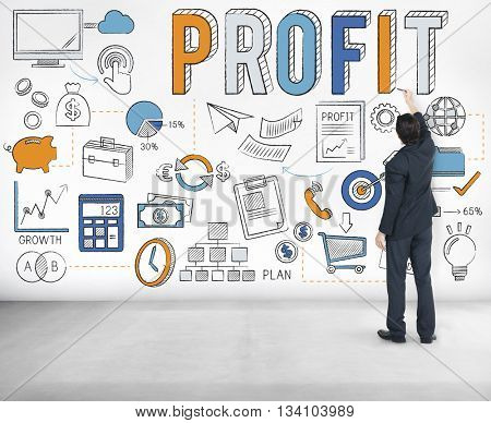 Revenue Profit Sales Finance Concept
