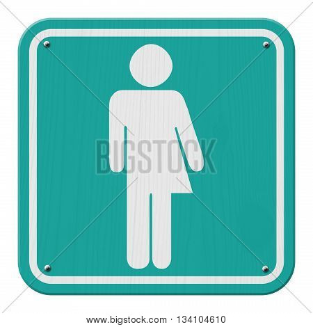 Transgender Sign Teal and White Sign with a transgender symbol, 3D Illustration