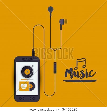 mobile music design, vector illustration eps10 graphic