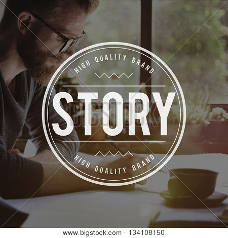 Story Author Plot Script Title Editorial Journalism Concept