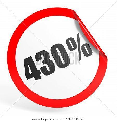 Discount 430 Percent Off. 3D Illustration.