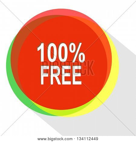 100% free. Internet template. Vector icon.