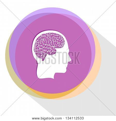 human brain. Internet template. Vector icon.