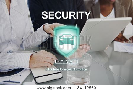 Security Insurance Privacy Policy Private Protection Concept