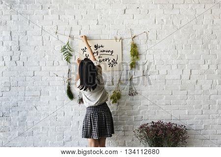 Flower Decorating Florsit Hobby Recreational Pursuit Concept