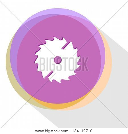 circ saw. Internet template. Vector icon.