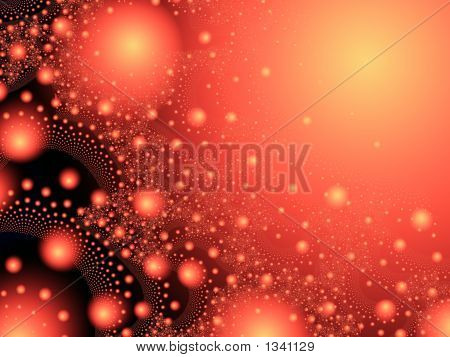 Red Explosion Fantasy Background - Fractal Illustration