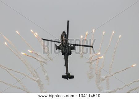 Apache Helicopter Flares