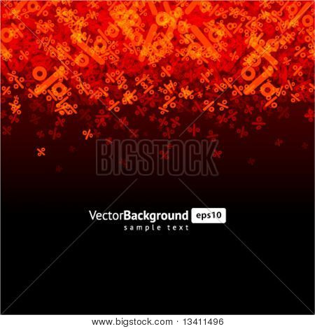 Abstract percent vector background