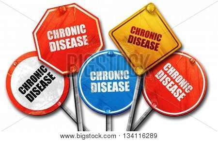 chronic disease, 3D rendering, rough street sign collection