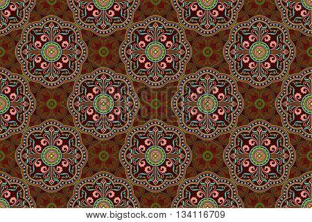 Abstract Mediterranean tile design in a seamless wallpaper