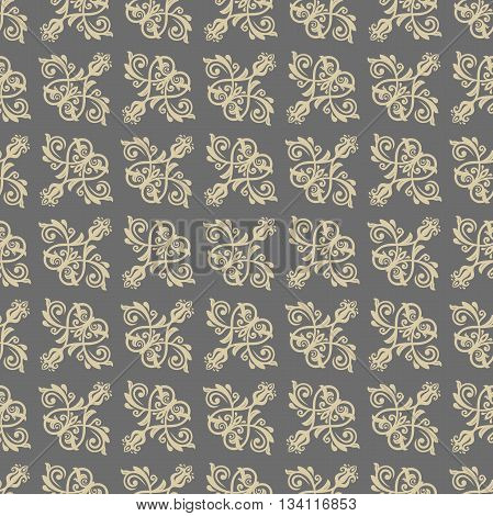 Oriental classic pattern. Seamless abstract background. Wallpaper with diagonal orient golden elements
