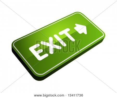 3d vector exit sign perspective