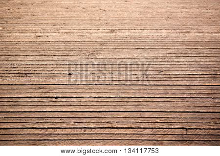 Closeup of old horizontal wooden planks texture