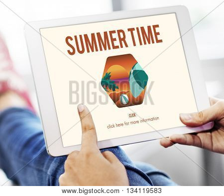 Summer Time Let's Travel Holiday Concept