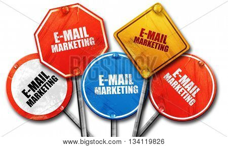 email marketing, 3D rendering, rough street sign collection