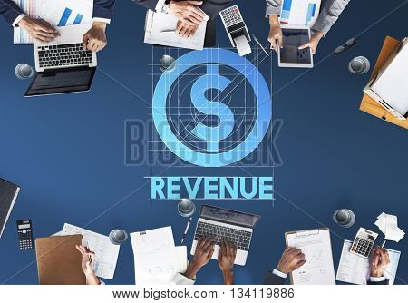 Revenue Finance Business People Technology Graphic Concept