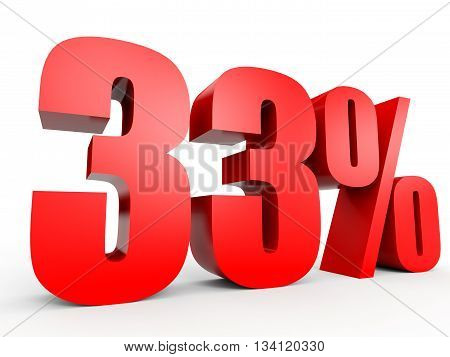 Discount 33 Percent Off. 3D Illustration.
