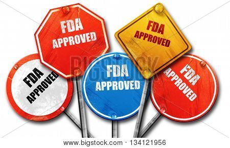 FDA approved background, 3D rendering, rough street sign collect
