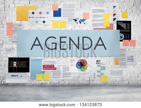 Agenda Appointment Calendar Schedule Meeting Concept