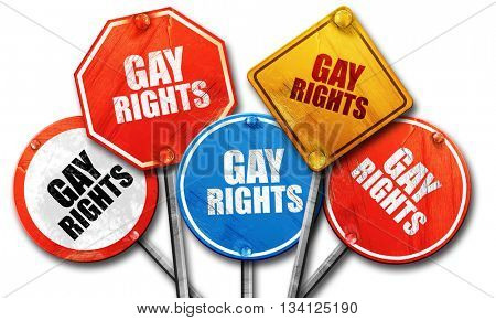 gay rights, 3D rendering, rough street sign collection
