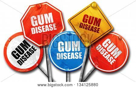 gum disease, 3D rendering, rough street sign collection