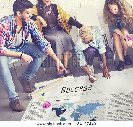 Success Accomplishment Achievement Victory Concept