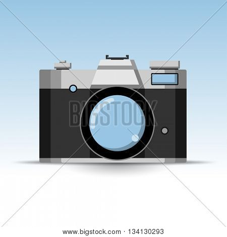 Photo Retro Camera Icon. Illustration Vector.